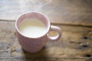 温めた豆乳